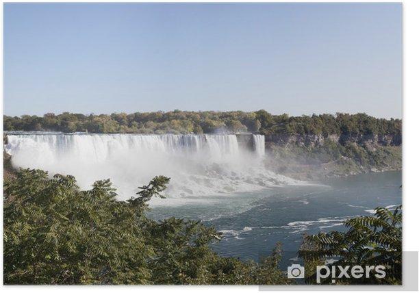 Plakat Wodospad Niagara - Miasta amerykańskie