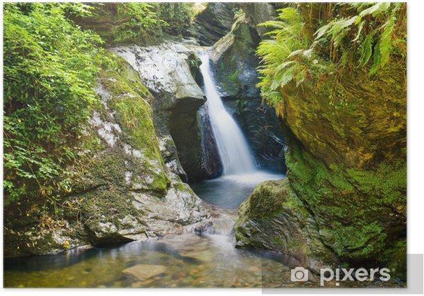 Plakat Wodospad w Glen Maye - Woda