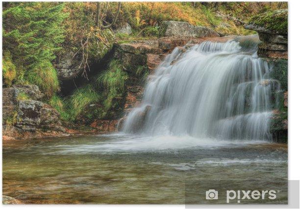 Plakat Wodospad - Woda