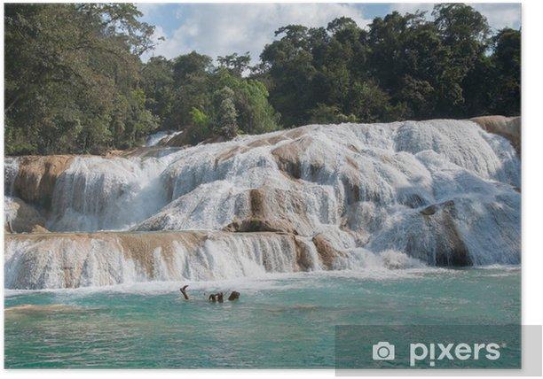 Plakat Wodospady Agua Azul, Chiapas, Meksyk - Tematy