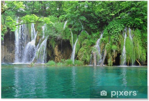 Plakat Wodospady Park Narodowy Jeziora Plitwickie - Wodospady
