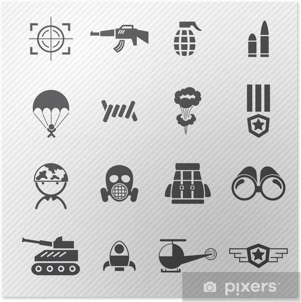 Plakat Wojsko i wojna ikon - Tematy