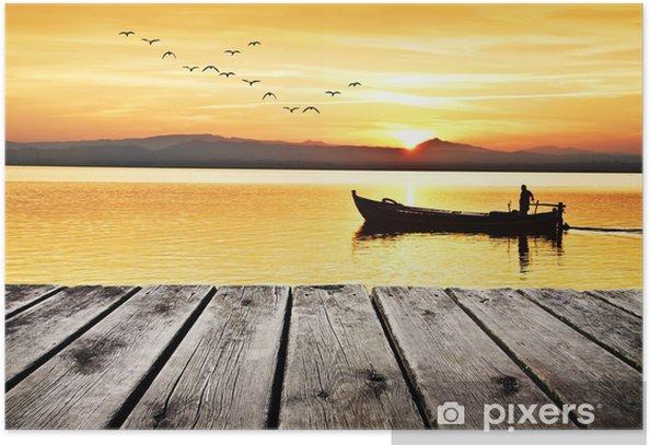 Plakat Wolny czas nad jeziorem - Wakacje