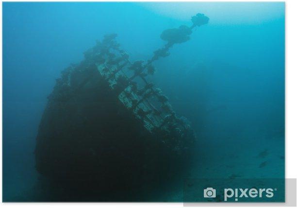 Plakat Wrak w Morzu Czerwonym - Pod wodą
