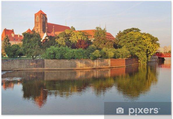 Plakát Wroclaw. řeka Odra s krásné ostrovy - Témata