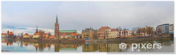 Plakat Wrocław Stare Miasto, panorama, - Europa