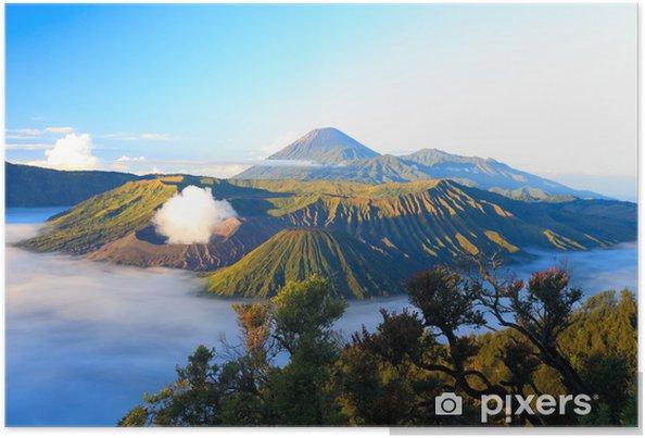 Plakat Wschód słońca. Bromo wulkan w Indonezji - Azja