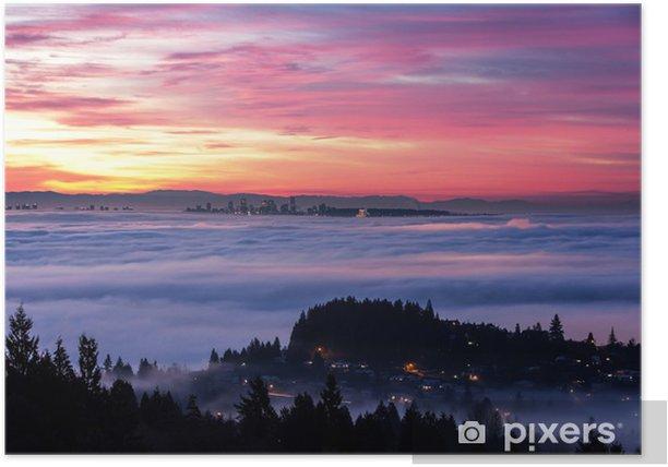 Plakat Wschód słońca i poranek, blask - Niebo