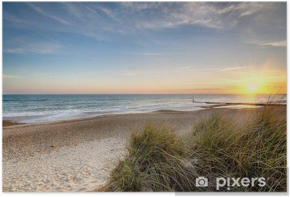Plakat Wschód słońca na dzikiej plaży - Tematy