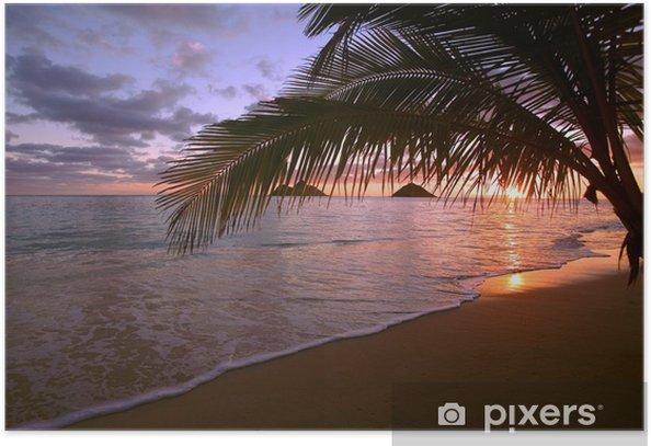 Plakat Wschód słońca na lanikai plaży na Hawajach - Tematy