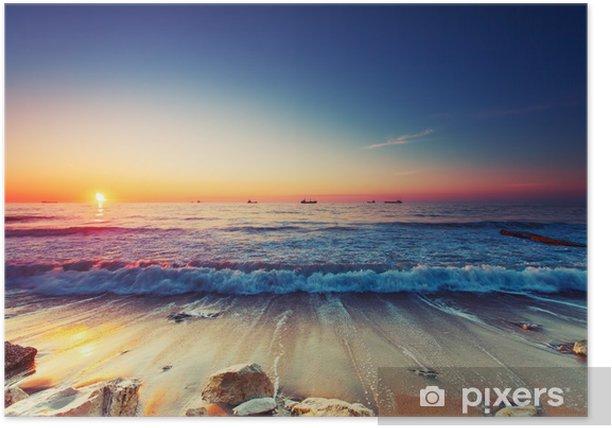 Plakat Wschód słońca nad morzem - Tematy