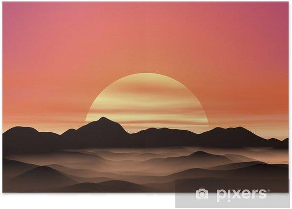 Plakat Wschód słońca - Niebo