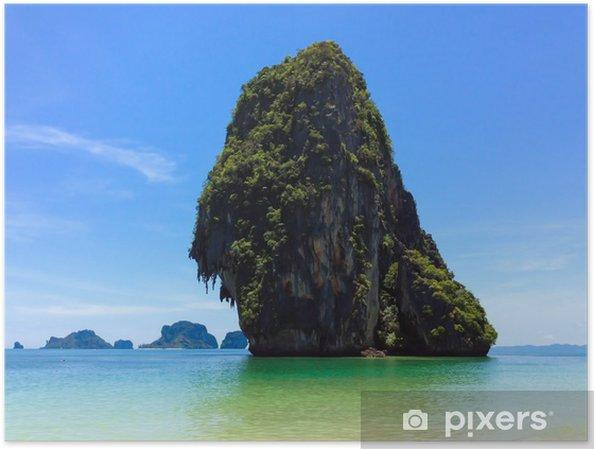 Plakat Wspaniała tropikalna wyspa w Tajlandii - Wyspy