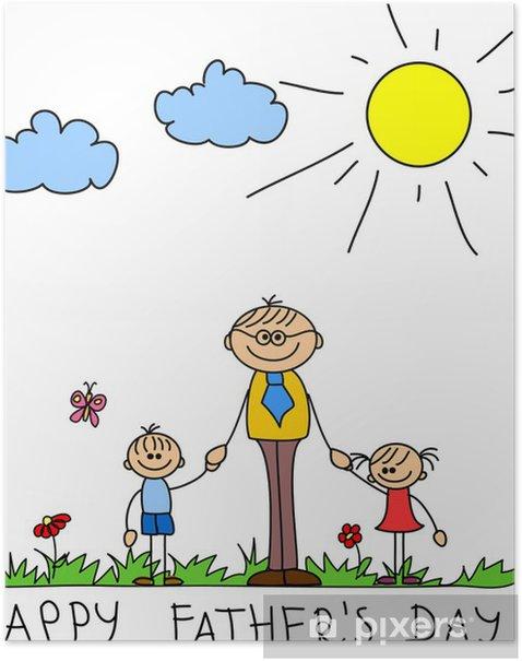 Plakat Wszystkiego najlepszego z okazji Dnia Ojca - Świętowanie