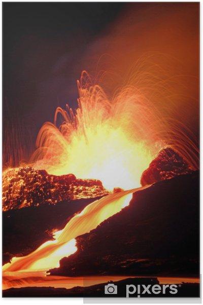 Plakat Wulkan - Klęski żywiołowe