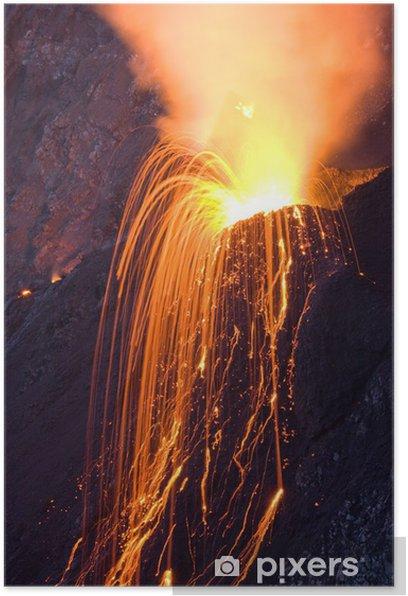 Plakat Wulkan - Cuda natury