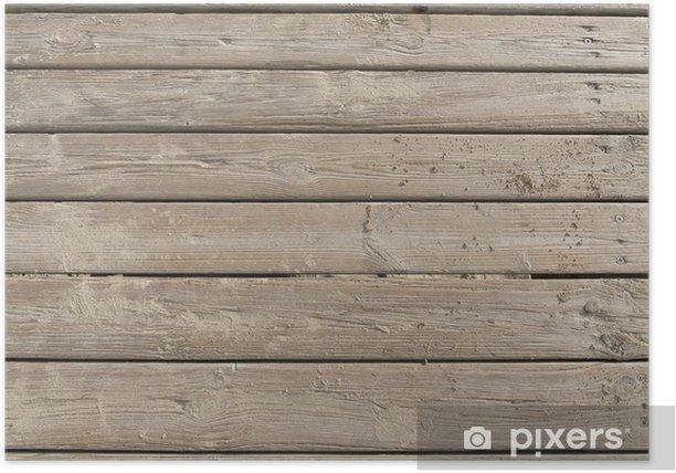 Plakat Wyblakły Boardwalk na piasku - Wakacje