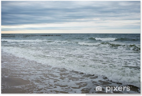 Plakat Wybrzeża bałtyku na wiosnę - Wakacje