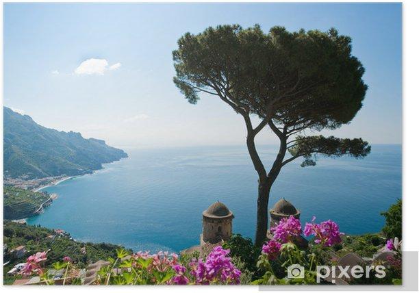 Plakat Wybrzeże Amalfi Widok - Tematy