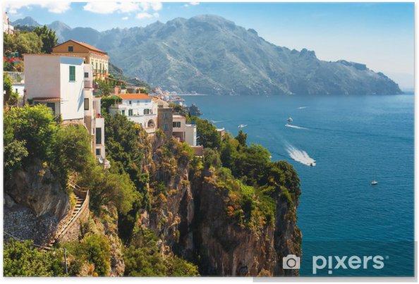Plakat Wybrzeże Amalfi, Włochy - Europa