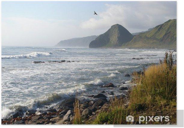 Plakat Wybrzeże wyspy Kunashir. Kurily - Azja