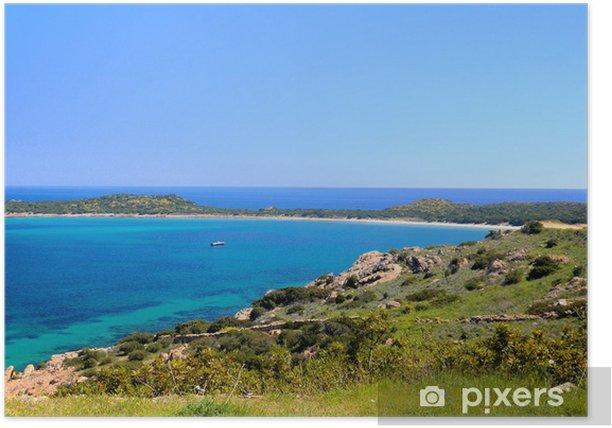 Plakat Wybrzeżu Sardynii - Europa