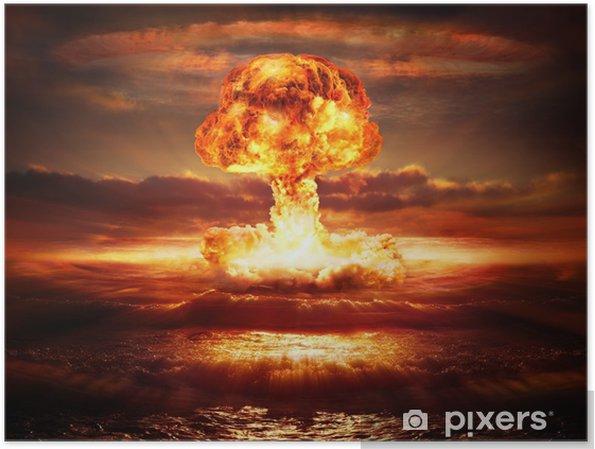 Plakat Wybuch bomby atomowej w oceanie - Ekologia