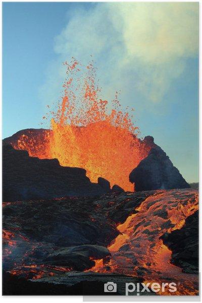 Plakat Wybuch wulkanu - Klęski żywiołowe