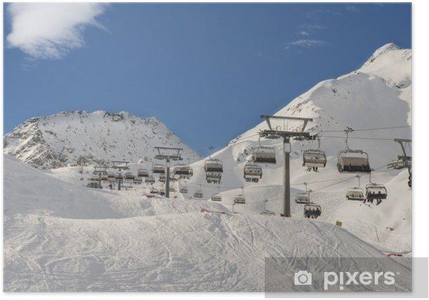 Plakat Wyciąg narciarski - Pory roku