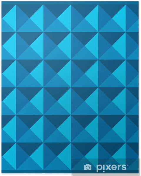 Plakat Wymiar Kolor Niebieski Wzór