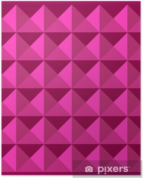 Plakat Wymiar Wzór Różowy Kolor