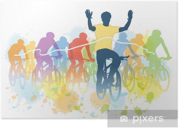 Plakat Wyścig rowerów - Sporty indywidualne