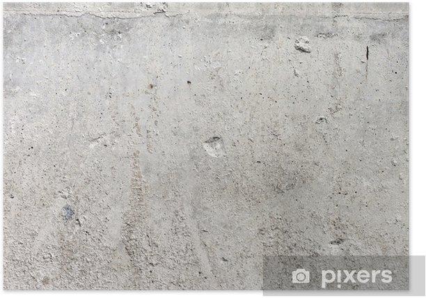 Plakat Wysoka Grunge Rozdzielczość ściana betonu - Style