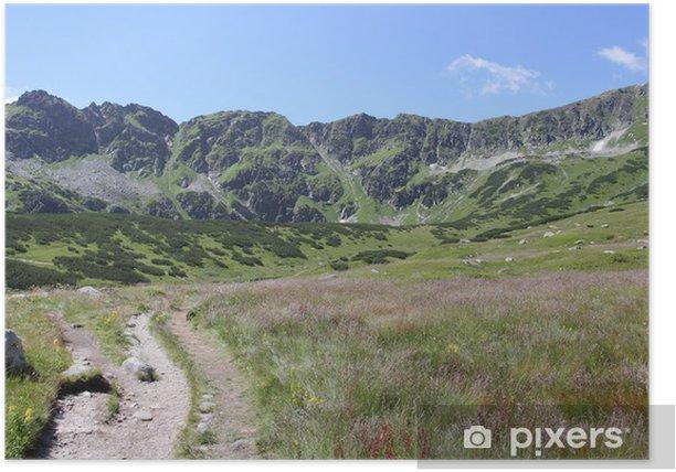 Plakat Wysokie góry krajobraz - Góry