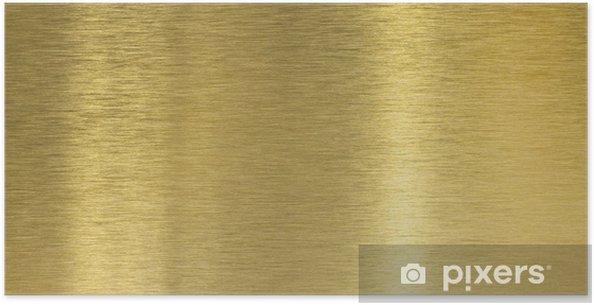 Plakat Wysokiej jakości tekstury szczotkowanego mosiądzu z odbicia światła - Tekstury
