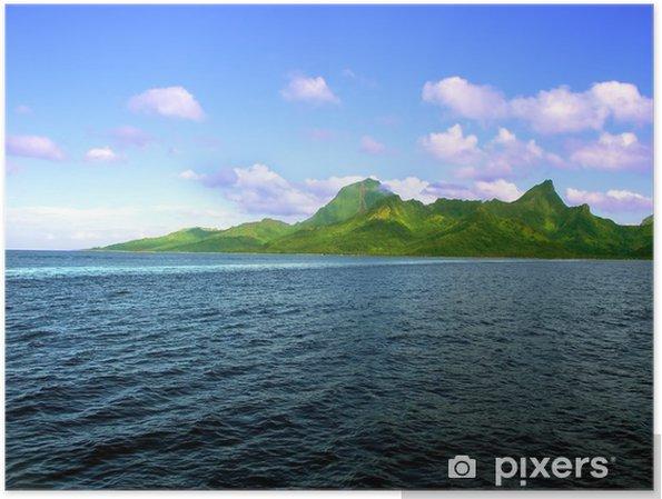 Plakat Wyspa Moorea (Polinezja Francuska) - Góry