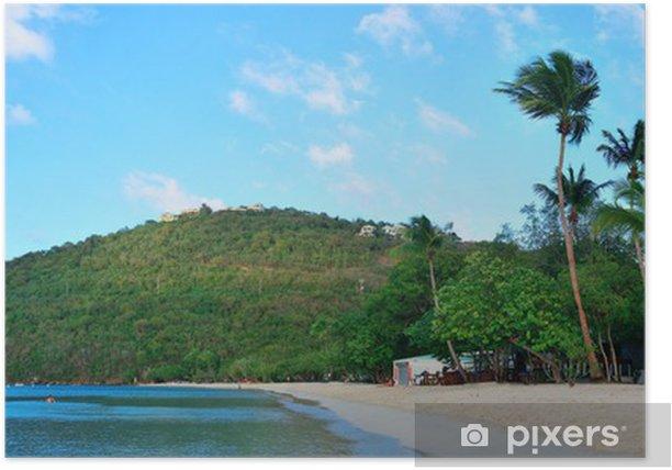 Plakat Wyspy Dziewicze plaży - Inne