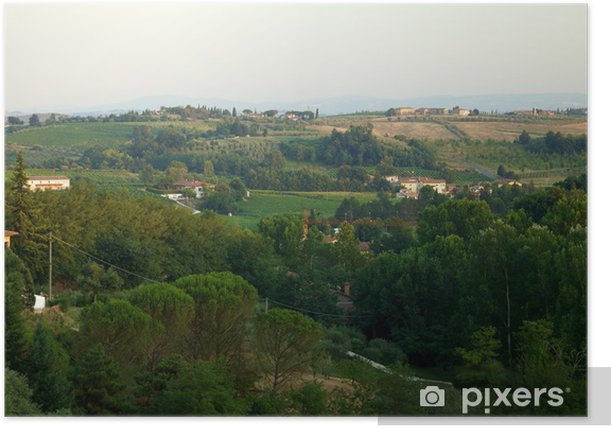 Plakat Wzgórz Chianti DOC - Rolnictwo