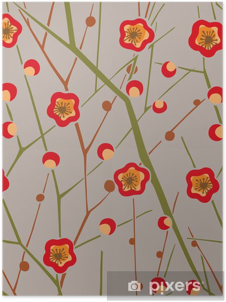 Plakat Wzór graficzny - Kwiaty