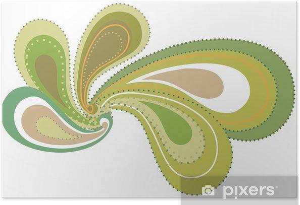 Plakat Wzór roślin - Abstrakcja