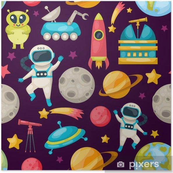 Plakat Wzór tła przestrzeni - Krajobrazy