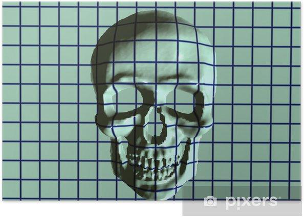 Plakát X-ray lebka - Život