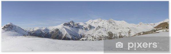 Plakat XL panorama włoskich Alpach w zimie - Góry