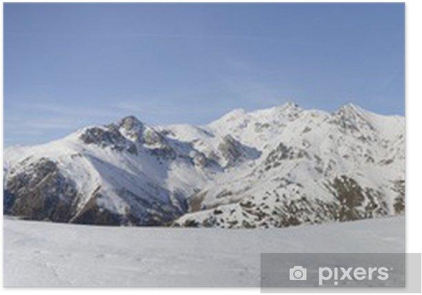 Plakát XL panorama z italských Alp v zimě - Hory