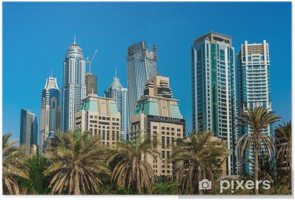Plakat Yacht Club w Dubai Marina. UAE. 16 listopada 2012 - Budynki prywatne