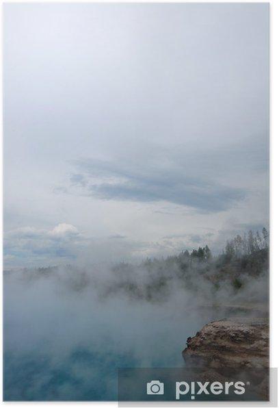 Plakat Yellowstone Gejzer - Ameryka
