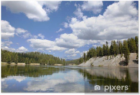 Plakát Yellowstonský národní park - Amerika