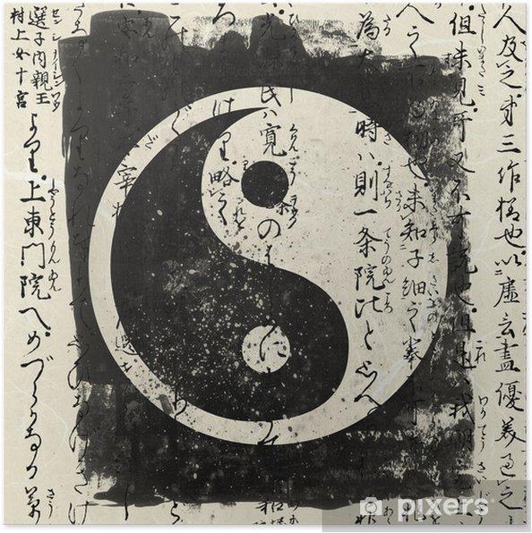 Plakat Yin i yang - Style