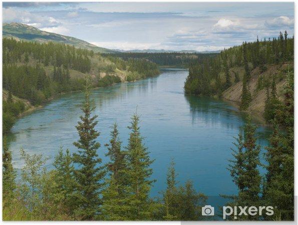 Plakat Yukon River North od Whitehorse Yukon T Kanadzie - Ameryka
