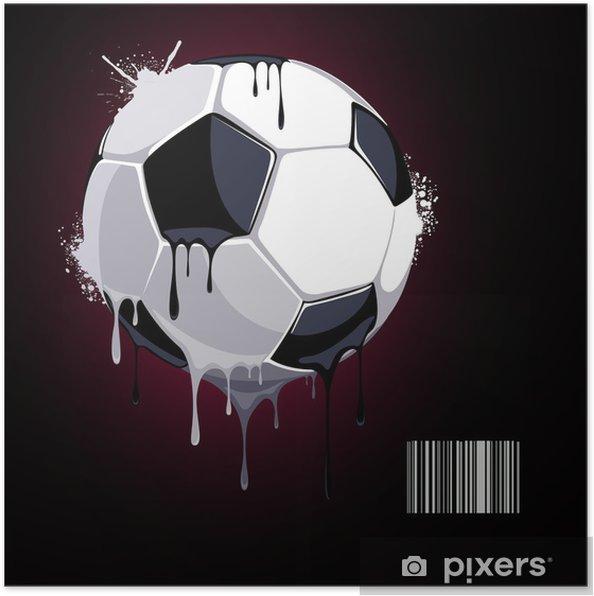 Plakat Z kapaniu piłki - Tła
